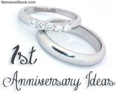 1st Anniversary Ideas and Gifts ♥ RomanceStuck.com