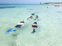 We need to snorkel at Mahogany Bay, too. This water looks sooo beautiful.