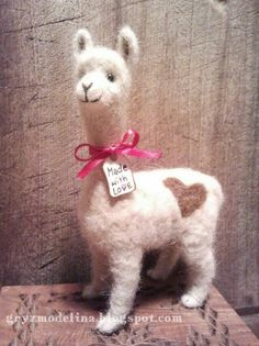 Needle felted llama - one of my first wool creations ever :)