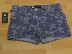 ROCK  REPUBLIC LOLITA LADY OF THE DEAD NWT NEW BLUE DENIM SHORTS WOMEN SIZE 12 #RockRepublic #Shorts  $20.99