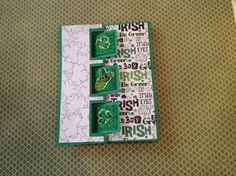 Sizzix triple square flip-it cards.