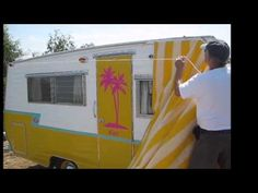 Hanging a Vintage Trailer Awning by Yourself