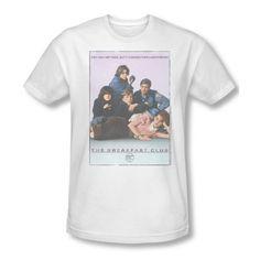 The Breakfast Club Teen Comedy Movie Hughes Bc Poster Adult Slim T-Shirt Tee @ niftywarehouse.com #NiftyWarehouse #BreakfastClub #80s #BreakfastClubMovie #Films #Comedies #BratPack