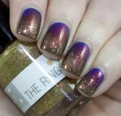 Nerd Lacquer The Ring over Ninja Polish Divinity (4) by Samarium's Swatches, via Flickr