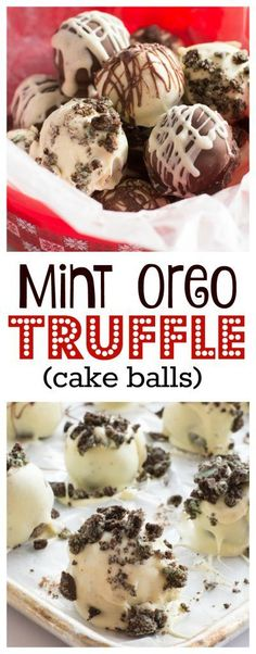 These Mint Oreo Truffles make the perfect last minute holiday treat