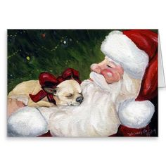 """Chihuahua Cozy Christmas"" Dog Art Greeting Card.  Click here to see>>>  http://www.zazzle.com/chihuahua_cozy_christmas_dog_art_greeting_card-137315917510302509?design.areas=%5Bcard_5x7_outside_print_horz_front%2Ccard_5x7_inside_print_horz_side2%2Ccard_5x7_outside_print_horz_back%5D&rf=238292882670995917"