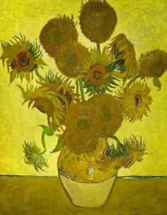 Vincent van Gogh - Sunflowers, 1888 at the National Gallery London. Just so awesome