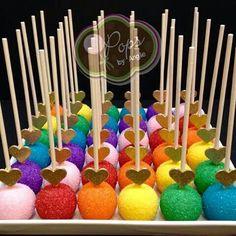 Over the Rainbow Cake Pops Trolls Birthday Party, Troll Party, Rainbow Birthday Party, Unicorn Birthday, Unicorn Party, Birthday Parties, Birthday Cake Pops, 5th Birthday, Rainbow Cake Pops