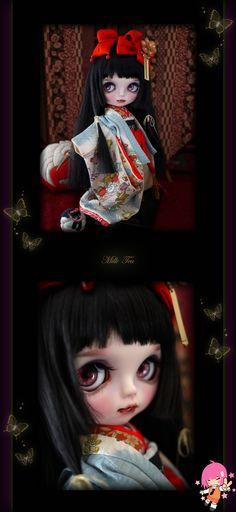 Custom Blythe Dolls: Milk Tea Beni Princess - A Rinkya Blog