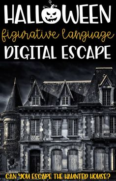 Middle school ELA students will love this Halloween Figurative Language Digital Breakout. This spooky Halloween ELA activity about escaping the haunte. Middle School Ela, Middle School English, Middle School Classroom, Ela Classroom, Future Classroom, Figurative Language, Spooky Halloween, Halloween Cookies, Elementary Schools