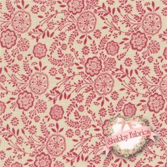 """La Belle Fleur 13634-19 Rose by French General for Moda Fabrics: This fabric by French General measures 43""""/44"""" wide and is 100% cotton. It features a red packed floral print on a tan colored background."""