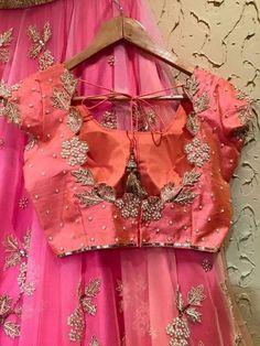 Cutwork Blouse Designs, Pattu Saree Blouse Designs, Fancy Blouse Designs, Half Saree Designs, Bridal Blouse Designs, Blouse Neck Designs, Zardosi Work Blouse, Lehenga Choli, Anarkali