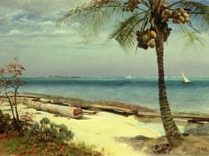 Tropical Coast - Albert Bierstadt