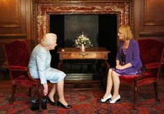The Queen has an audience with Scottish Parliament Presiding Officer Tricia Marwick at Holyrood House in Edinburgh, Scotland 2 July 2013