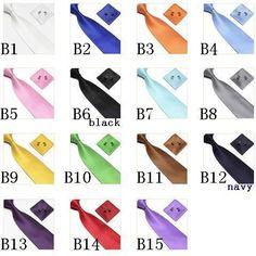 neck tie set neck ties cuff links cufflinks hanky Handkerchiefs 15colors