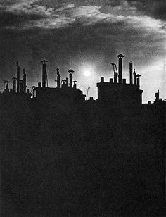 Brassai (1899-1984) - 1940 Paris Rooftops during Blackout |