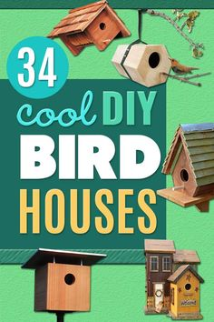 DIY Bird Houses - Easy One-Board Bird House - Easy Bird House Ideas for Kids and Adult To Make - Free Plans and Tutorials for Wooden, Simple, Upcyle Designs, Recycle Plastic and Creative Ways To Make Rustic Outdoor Decor and a Home for the Birds - Fun Pro Bird Houses For Sale, Wooden Bird Houses, Bird House Kits, Bird Houses Diy, Bird House Plans Free, Homemade Bird Houses, Kids Yard, Rustic Outdoor Decor, Easy Bird