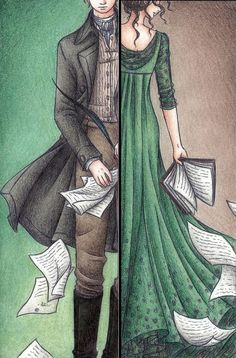 Elizabeth and Darcy drawing