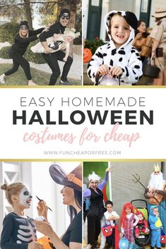Halloween is drawing near, but don't let that scare you off! Make one of these easy homemade Halloween costumes and you'll be set. If homemade isn't your thing, use our tips for finding store-bought costumes on the cheap! Easy Homemade Halloween Costumes, Easy Halloween, Halloween Party, Black Face Paint, Mom Brain, Pumpkin Carving Templates, Pink Outfits, Cool Diy Projects, Halloween Decorations