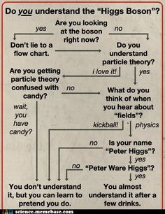 "Do you understand the ""Higgs Boson""? [flowchart]"