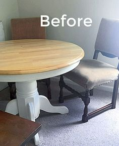 Refinishing a Pine Wood Dining Table without Stripping original coat. Refinish Dining Tables, Refinished Table, Pine Dining Table, Wood Table, Gel Stain Furniture, Furniture Redo, Painted Furniture, Farmhouse Style Coffee Table, Crate Side Table