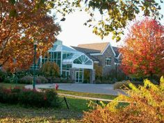 The entrance to the Boerner Botanical Gardens at Milwaukee County's Whitnall Park. The building includes banquet rooms as well as various informational exhibits. Greendale, WI.  (Richard S. Buse photo)