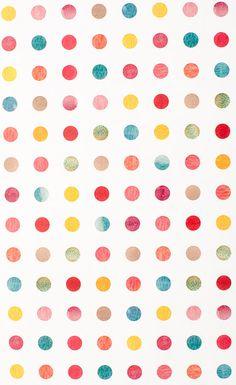 Watercolor Polka Dot / Gift Wrap 12 Sheets by NormansPrintery