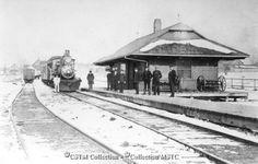 Location: Rockland, ON Railway Name: CANADA ATLANTIC RAILWAY CO. Date: 1896-12-30 Subject: Steam locomotiveTrain, passengerStationEmp...