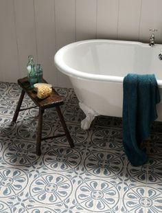Interestingly tiled floors