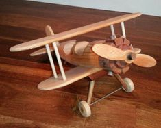 Wood airplane fir and mahogany Rc Model Airplanes, Balsa Wood Models, Wood Toys, Natural Wood, Etsy, Ww2, Kids Toys, Gadgets, Children