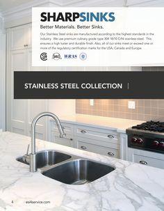 ESI SharpSinks Catalog Pg 4 Stainless Steel Sinks