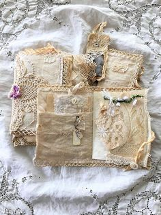 Vintage Linen and Lace Journal by ShabbySoul
