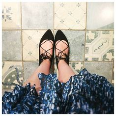 I can't resist pretty floors and lace flats