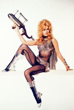 Jane Fonda in a promotional photo for Barbarella (1968)