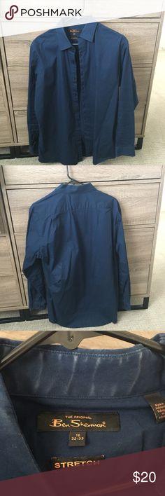 Blue Ben Sherman Dress Shirt Blue Ben Sherman Dress Shirt Ben Sherman Shirts Dress Shirts