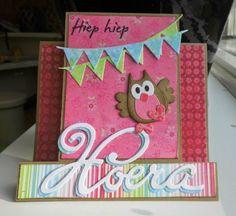 Annemarie's kaarten Owl Card, Marianne Design, Kids Cards, Graduation, Tags, Crafts, Pandas, Cards, Manualidades