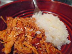 Garlic and Honey Crock Pot Teriyaki Chicken- obtainable table