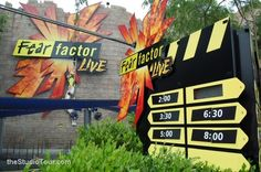 AMUSEMENT ATTRACTION! Fear Factor Live at Universal Studios Orlando Florida | Jerry's Hollywoodland Amusement And Trailer Park