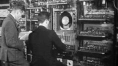 """Video of Manchester """"Baby"""", first a newsreel from the time and then a current day demonstration of its operation. From Computer History Museum"""