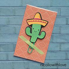Planner Clip, Cactus Sombrero, Bookmark, Paper Clip, Paperwork Organizer