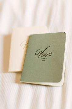 BHLDN vow journals carried along on a paris elopement | via: ruffled