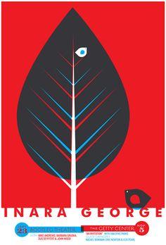 Inara George / Van Dyke Parks. Poster design: strawberryluna (2011).