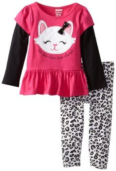 Watch Me Grow! by Sesame Street Girls 2-6X 2 Piece Cat Patterned Dress and Pant, Pink, 2T Watch Me Grow! by Sesame Street,http://www.amazon.com/dp/B00D4KWJES/ref=cm_sw_r_pi_dp_Q-UVsb07CJ05D8BF