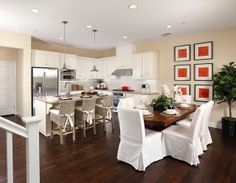 Entertain away in this open concept kitchen and dining space at Ravello by @Shea Homes NoCal