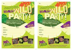 Geckoes Wildlife party invitations