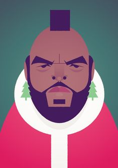 I pity the fool that doesn't have a Merry Christmas - Stanley Chow Illustration of Manchester England