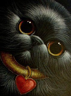 """Black Persian Cat Valentine"" par Cyra R. Cancel"