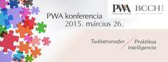 """A PWA - Sikeres Nők Egyesülete és a BCCH – British Chamber of Commerce in Hungary közös szervezésében """"Tudástranszfer - Praktikus intelligencia"""" című konferencia és az azt követő gálaest 2015. március 26., csütörtök A konferencia megnyitója: 14:00 Gálaest és díjátadás: 19:00 Corinthia Hotel Budapest (1073 Budapest, Erzsébet körút 43-49.) A délutáni kerekasztal beszélgetések során inspiráló témákkal, neves előadókkal, alkalmazható ötletekkel várjuk Önöket. A Gálaesten sor kerül a díjátadókra."""