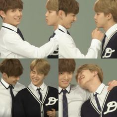 they are so gay lmao - these tender looks, the gentle chin tilt, the amused giggles lololol when's the wedding #Kookmin #Jikook