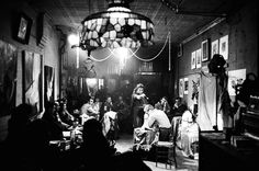 Cafe Cino, Greenwich Village. The birth place of Off-Broadway. ( 1961 )